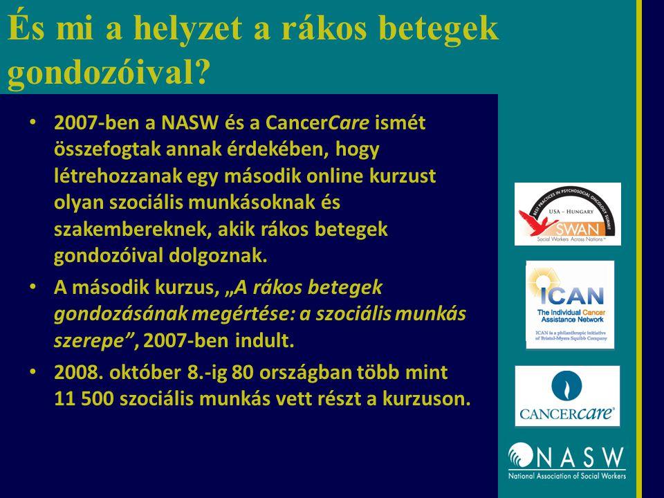 És mi a helyzet a rákos betegek gondozóival? 2007-ben a NASW és a CancerCare ismét összefogtak annak érdekében, hogy létrehozzanak egy második online