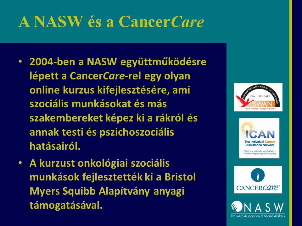 A NASW és a CancerCare 2004-ben a NASW együttműködésre lépett a CancerCare-rel egy olyan online kurzus kifejlesztésére, ami szociális munkásokat és más szakembereket képez ki a rákról és annak testi és pszichoszociális hatásairól.