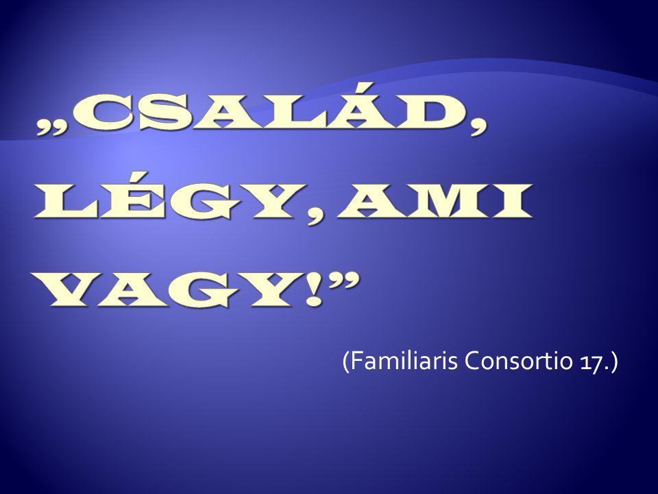 (Familiaris Consortio 17.)