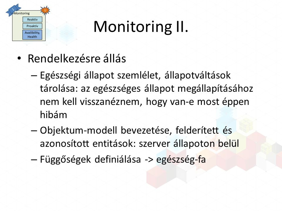 Monitoring II.