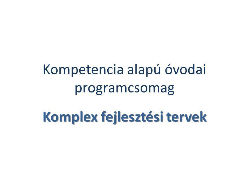 Kompetencia alapú óvodai programcsomag Komplex fejlesztési tervek