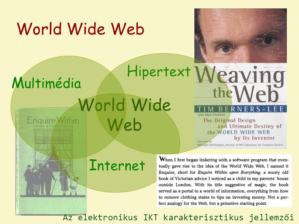 World Wide Web H ipertext I nternet World Wide Web M ultimédia Az elektronikus IKT karakterisztikus jellemzői