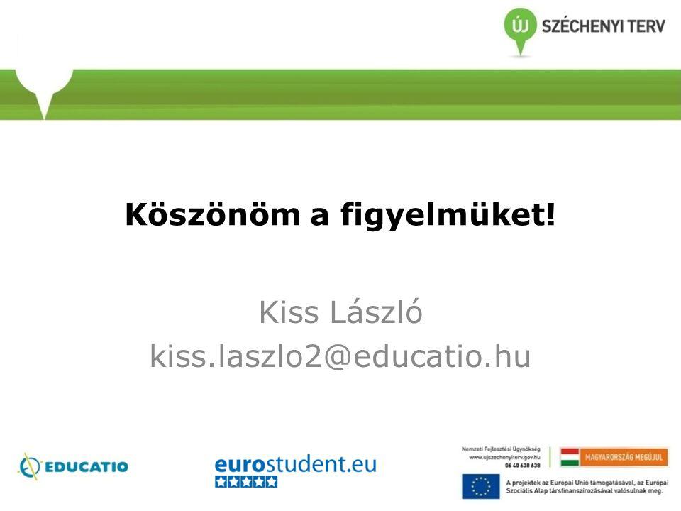 Köszönöm a figyelmüket! Kiss László kiss.laszlo2@educatio.hu