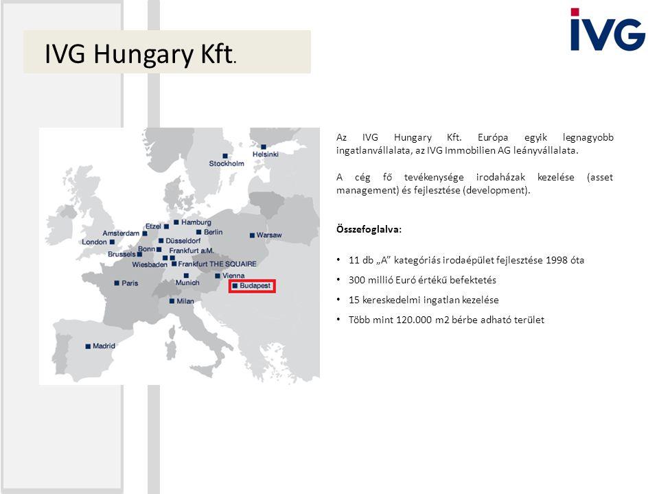 Az IVG Hungary Kft. Európa egyik legnagyobb ingatlanvállalata, az IVG Immobilien AG leányvállalata. A cég fő tevékenysége irodaházak kezelése (asset m