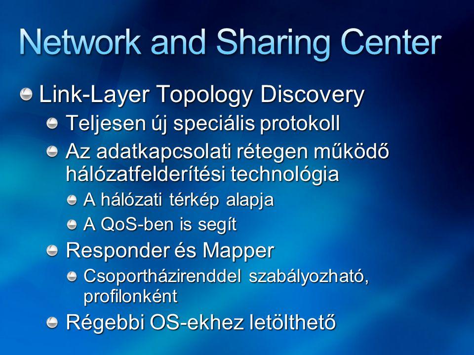 Link-Layer Topology Discovery Teljesen új speciális protokoll Az adatkapcsolati rétegen működő hálózatfelderítési technológia A hálózati térkép alapja