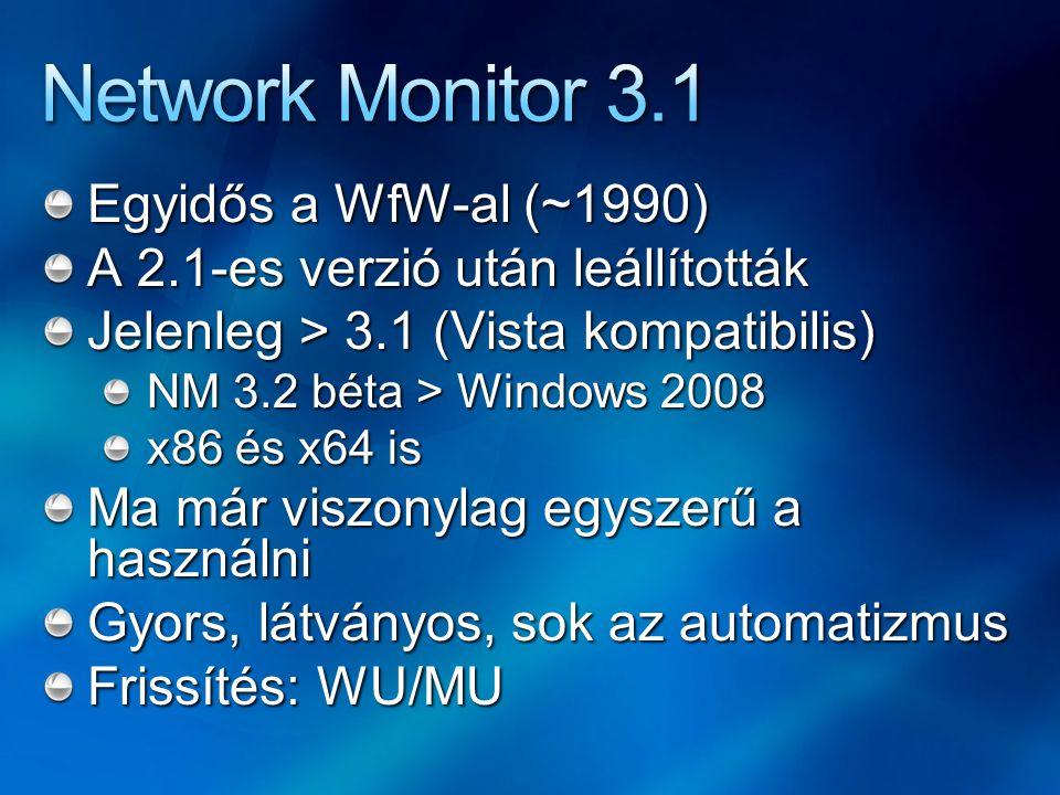Egyidős a WfW-al (~1990) A 2.1-es verzió után leállították Jelenleg > 3.1 (Vista kompatibilis) NM 3.2 béta > Windows 2008 x86 és x64 is Ma már viszony