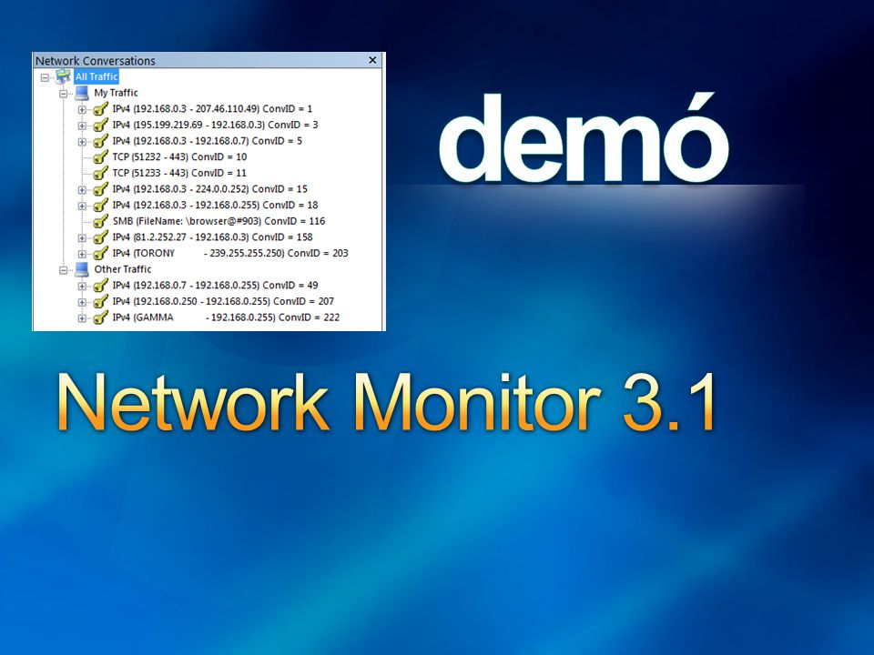 Network and Sharing Center P2P IPv6 a Vistában Hálózati házirendek Network Monitor 3.1