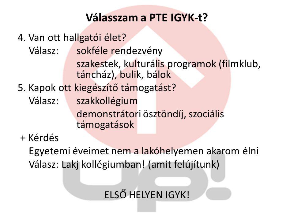 Válasszam a PTE IGYK-t. 4. Van ott hallgatói élet.
