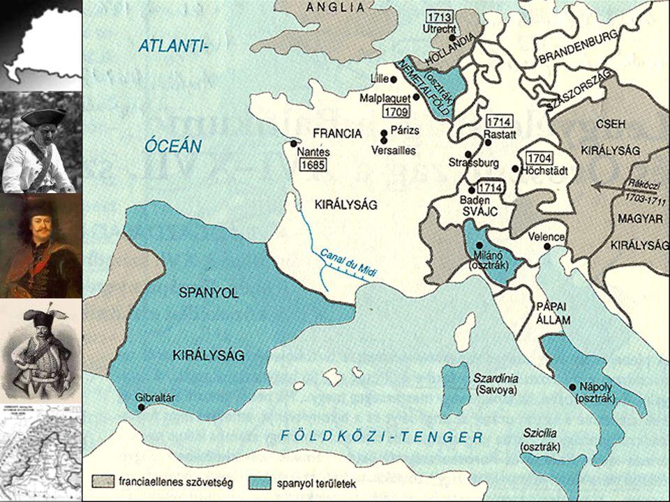 Ellenfelek: Habsburgok Bourbonok Tét: az európai hegemónia Francia-spanyol perszonálunió? az angolok és a hollandok sem érdektelenek! 1704. Höchstadt