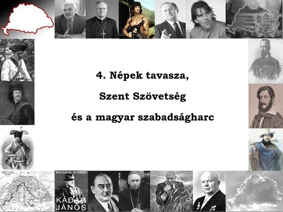4. Népek tavasza, Szent Szövetség és a magyar szabadságharc
