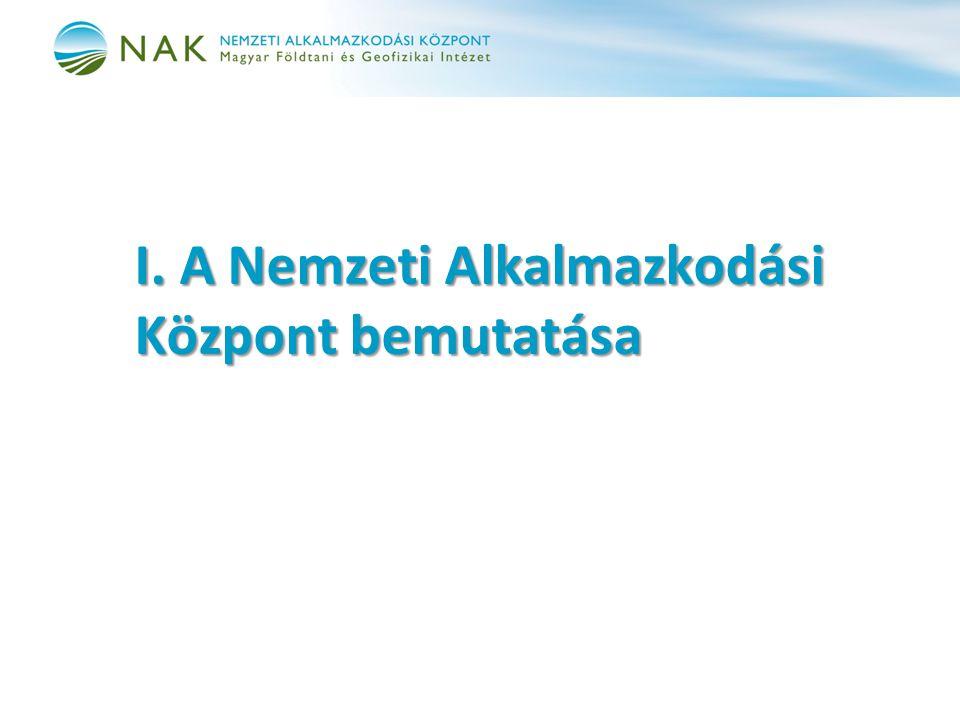 I. A Nemzeti Alkalmazkodási Központ bemutatása