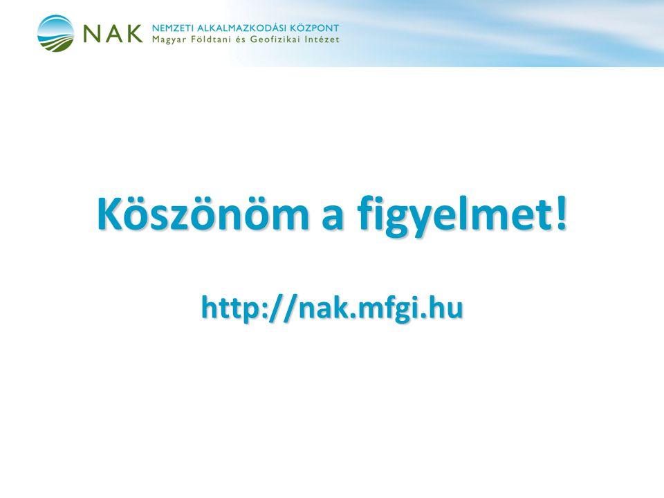 Köszönöm a figyelmet! http://nak.mfgi.hu
