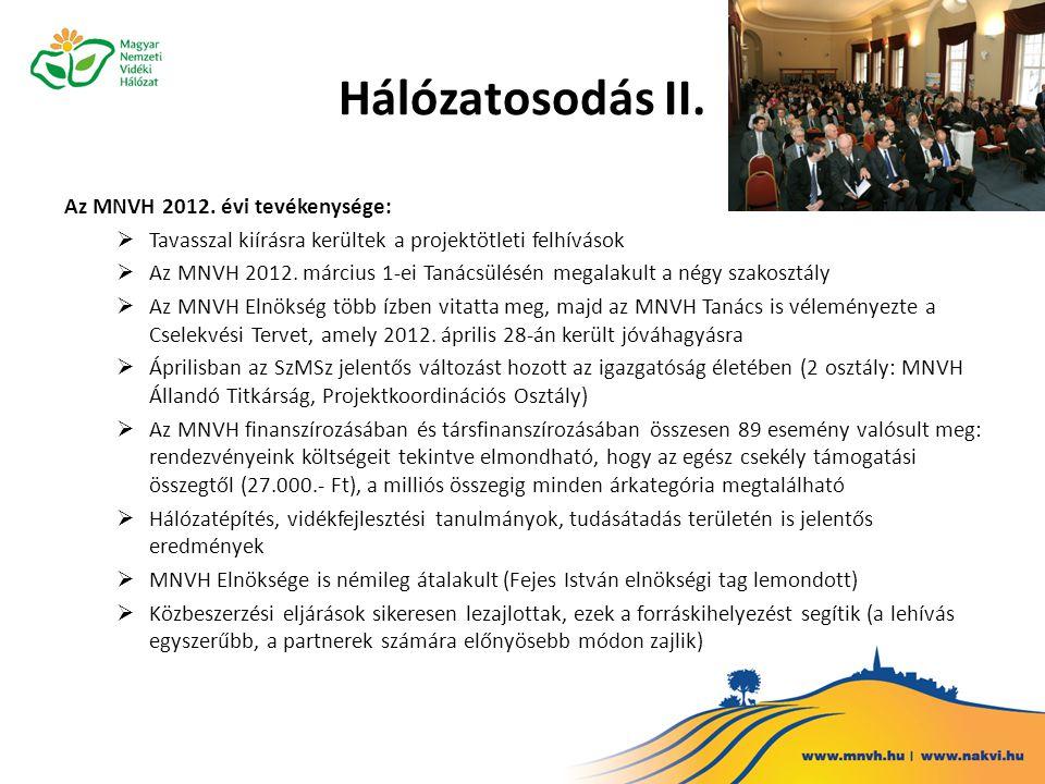 Hálózatosodás III.Az MNVH 2012.