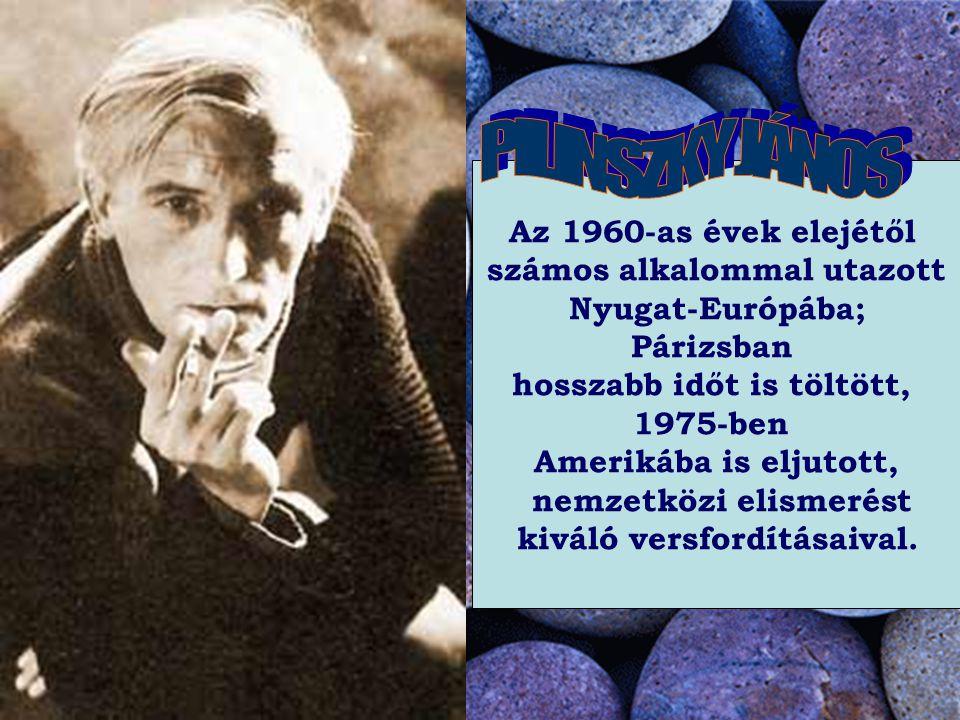 Az 1960-as évek elejétől számos alkalommal utazott Nyugat-Európába; Párizsban hosszabb időt is töltött, 1975-ben Amerikába is eljutott, nemzetközi elismerést kiváló versfordításaival.