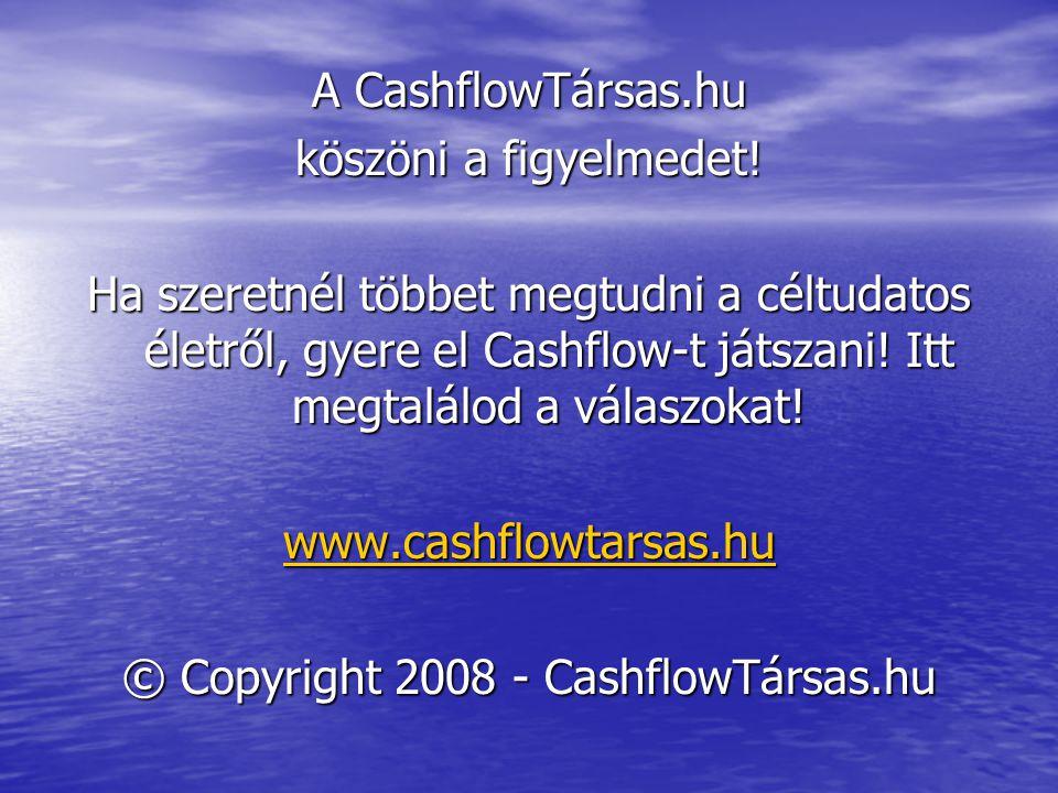 A CashflowTársas.hu köszöni a figyelmedet! Ha szeretnél többet megtudni a céltudatos életről, gyere el Cashflow-t játszani! Itt megtalálod a válaszoka