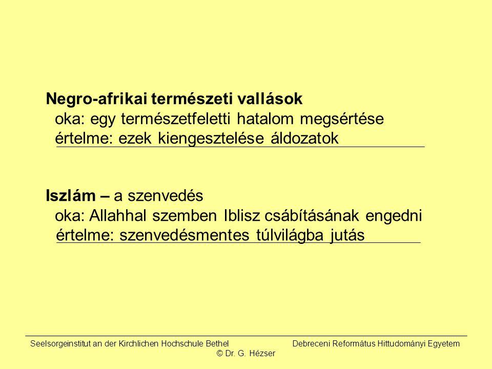 Seelsorgeinstitut an der Kirchlichen Hochschule Bethel Debreceni Református Hittudományi Egyetem © Dr.
