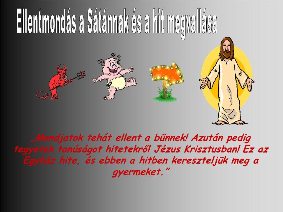 """""""Mondjatok tehát ellent a bűnnek.Azután pedig tegyetek tanúságot hitetekről Jézus Krisztusban."""