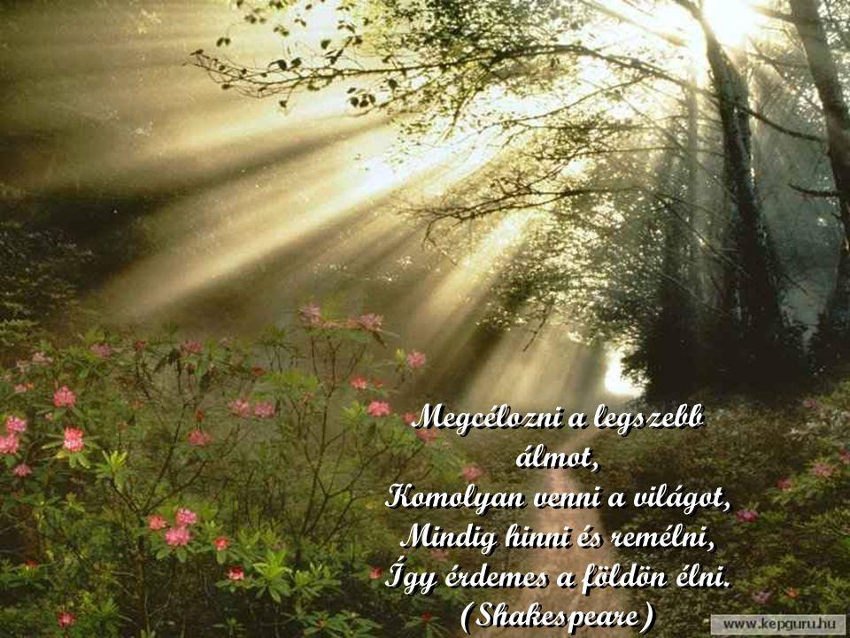 Indulni vígan és remélve, A boldog szebb jöv ő elébe. Miénk a hely a nap alatt, Míg szívünk bátor és szabad. Indulni vígan és remélve, A boldog szebb