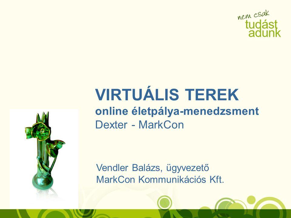 VIRTUÁLIS TEREK online életpálya-menedzsment Dexter - MarkCon Vendler Balázs, ügyvezető MarkCon Kommunikációs Kft.
