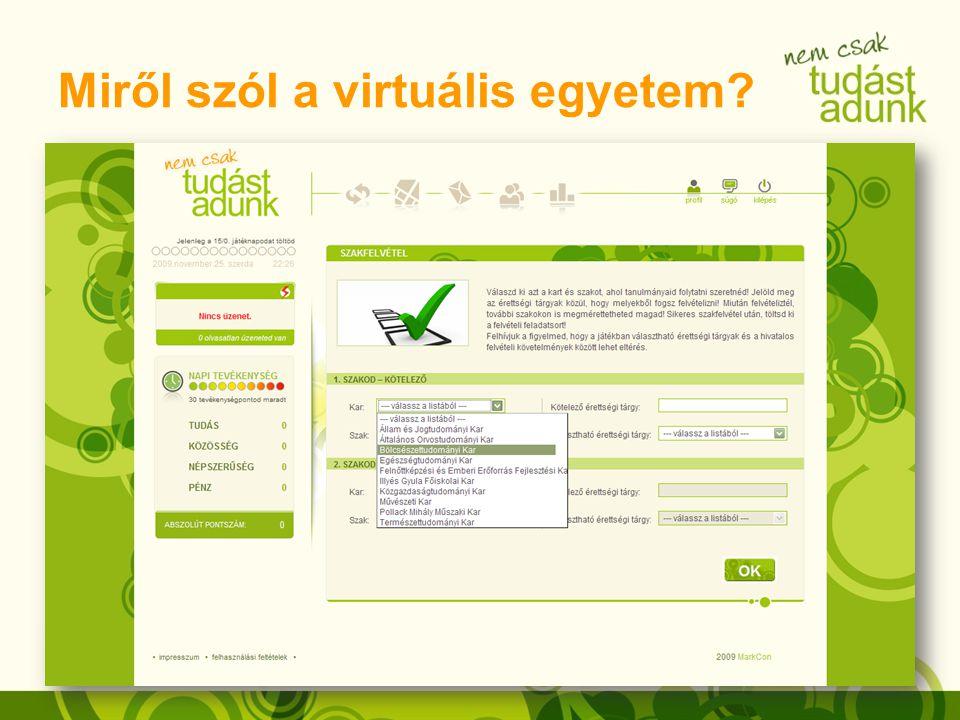 Miről szól a virtuális egyetem?