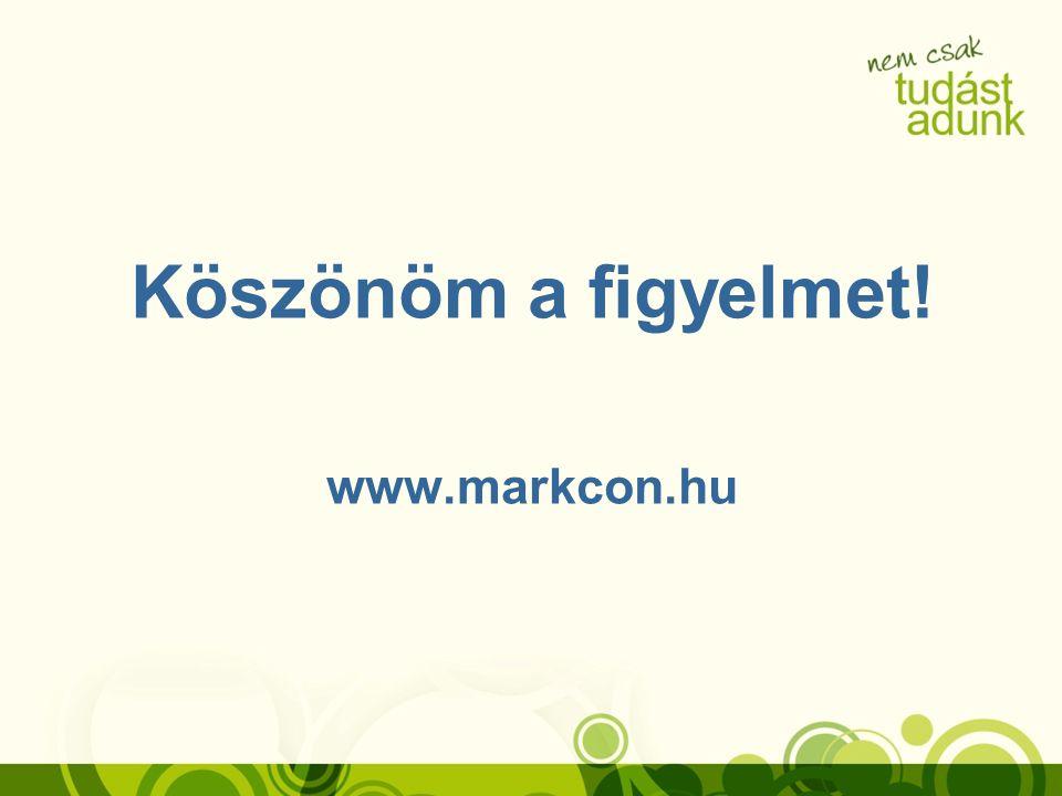 Köszönöm a figyelmet! www.markcon.hu
