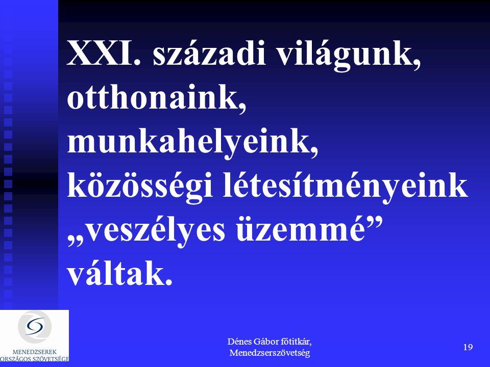 Dénes Gábor főtitkár, Menedzserszövetség 19 XXI.