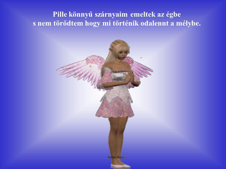 Pille könnyű szárnyaim emeltek az égbe s nem törődtem hogy mi történik odalennt a mélybe.