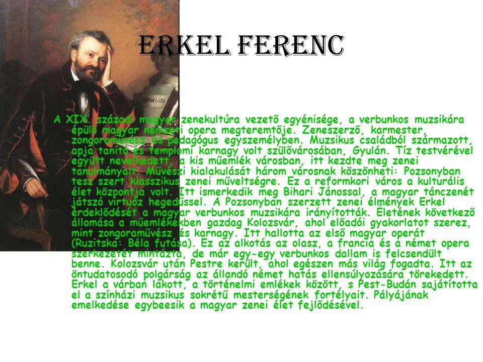 Erkel Ferenc A XIX.
