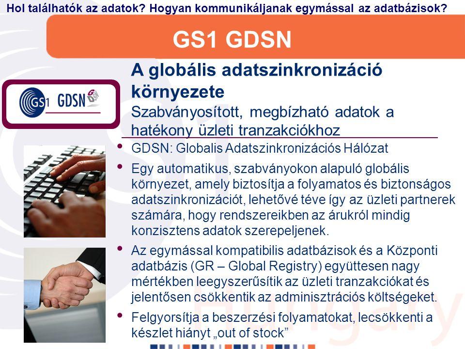 GS1 eCom Globális szabvány az elektronikus üzenetek területén A GS1 eCom szabványok (GS1 EANCOM és GS1 XML) egy kész, strukturált megoldást nyújtanak az üzleti elektronikus folyamatok számára Biztosítja a gyors, hatékony és automatikus adatcserét az üzleti partnerek Növeli az elosztási láncok hatékonyságát és átláthatóságát Szállítási üzenetek, melyek a nyomonkövetést támogatják Hogyan továbbítsuk az adatokat a kapcsolódási pontok számára.