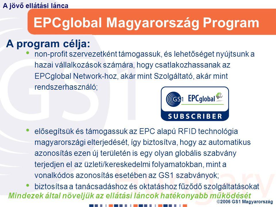 EPCglobal Magyarország Program A 2003.