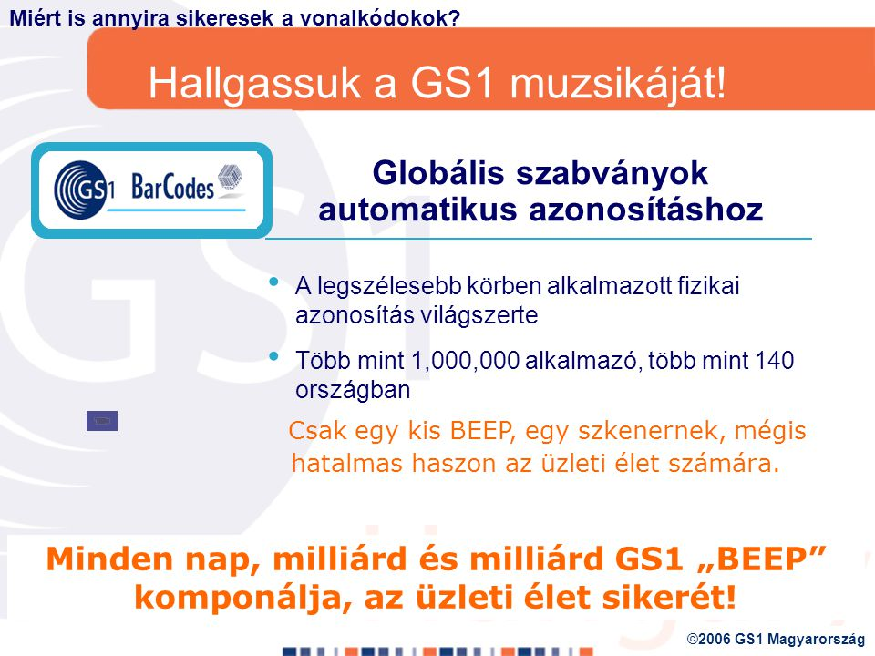 A GS1 alappillérei Mivel is foglalkozik a GS1?