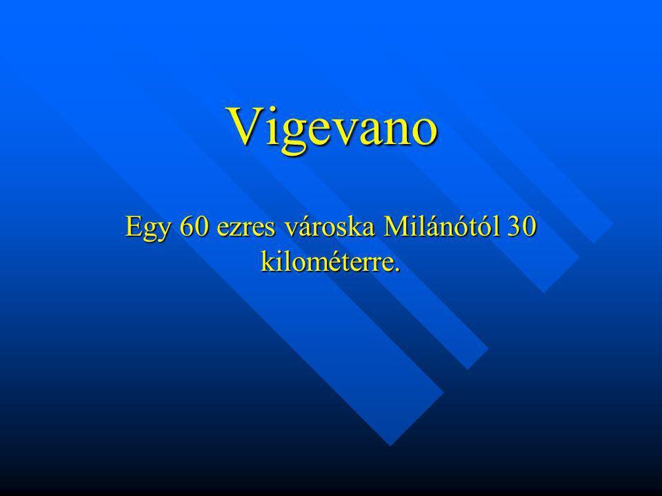 Vigevano Egy 60 ezres városka Milánótól 30 kilométerre.