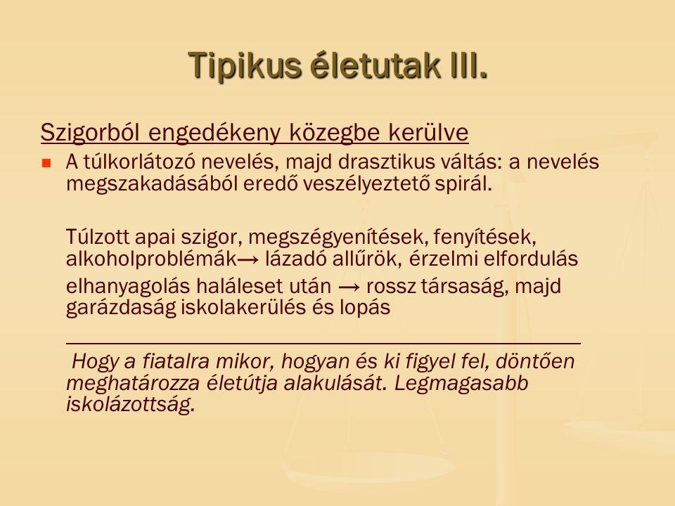 Tipikus életutak III.