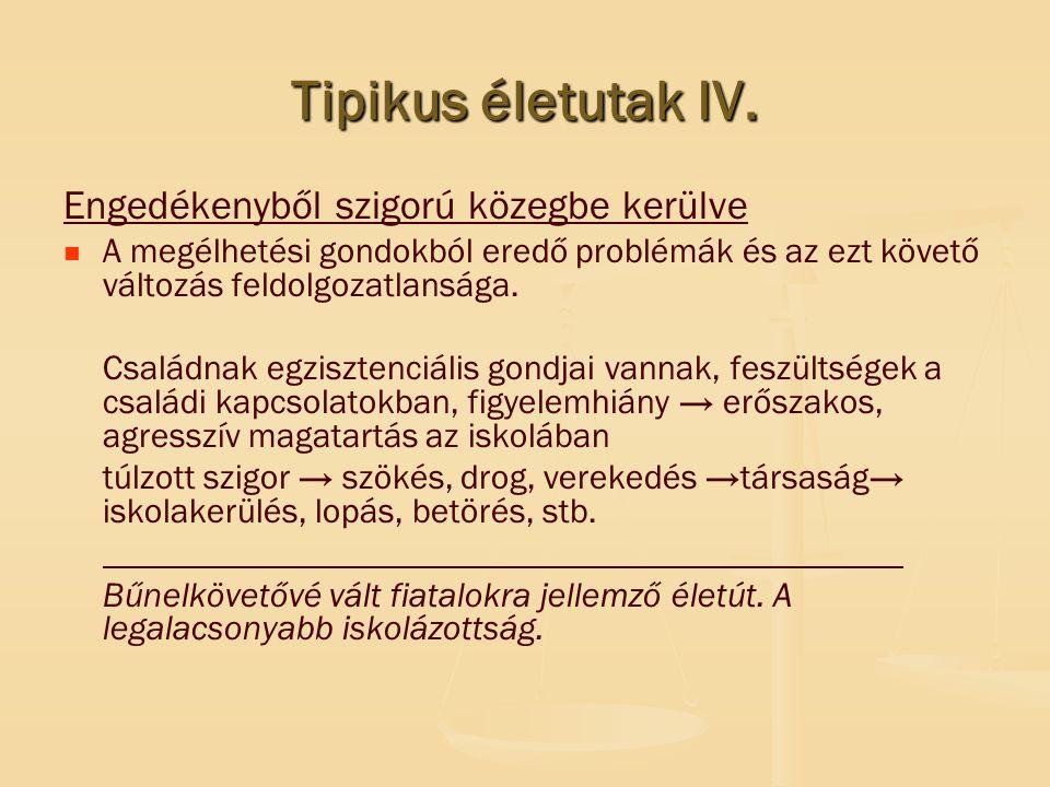Tipikus életutak IV.