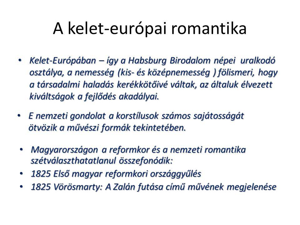 A kelet-európai romantika Kelet-Európában – így a Habsburg Birodalom népei uralkodó osztálya, a nemesség (kis- és középnemesség ) fölismeri, hogy a tá