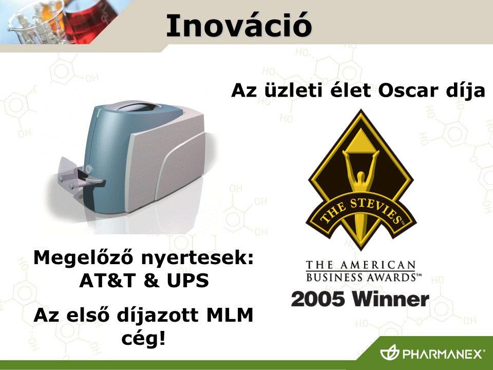 Inováció Megelőző nyertesek: AT&T & UPS Az első díjazott MLM cég! Az üzleti élet Oscar díja