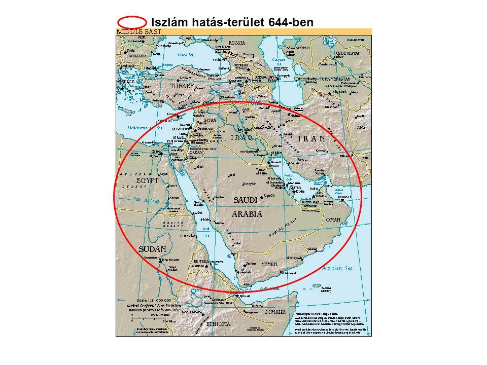 Az Arab félsziget - Mohammed halálakor (632)