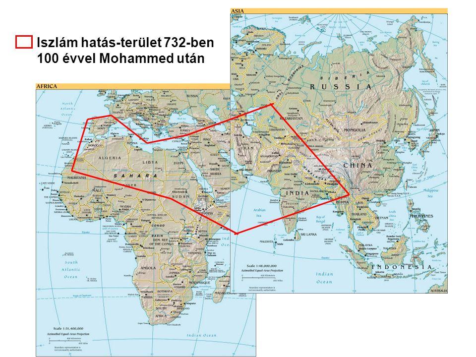 Iszlám hatás-terület 644-ben