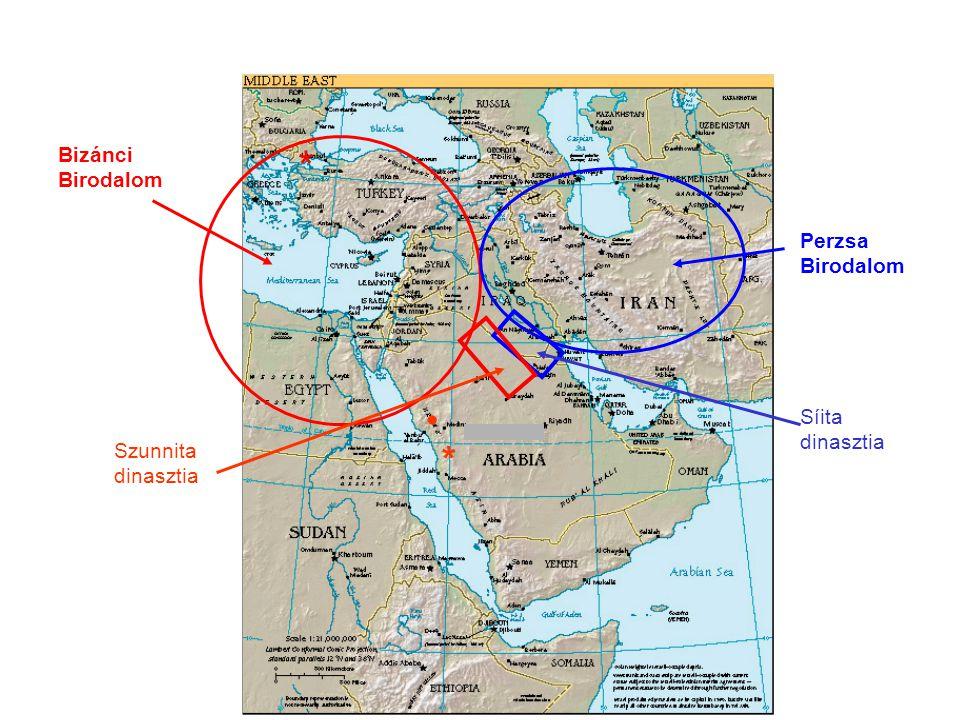 Iszlám hatás-terület 732-ben 100 évvel Mohammed után