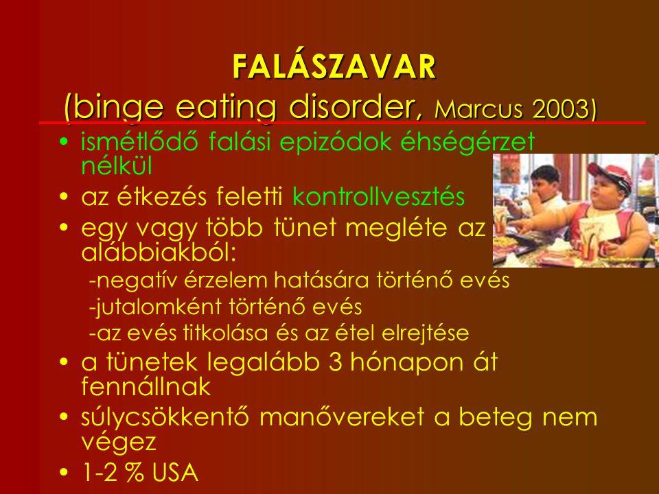 Rizikó: felnőttkori egészségkárosodás A 40 éves nem dohányzó túlsúlyos (BMI 25,5-30,0) ffi: 3.1 életévet veszít, elhízottan (30,0-35,0): 5.8 életévet.A 40 éves nem dohányzó túlsúlyos (BMI 25,5-30,0) ffi: 3.1 életévet veszít, elhízottan (30,0-35,0): 5.8 életévet.