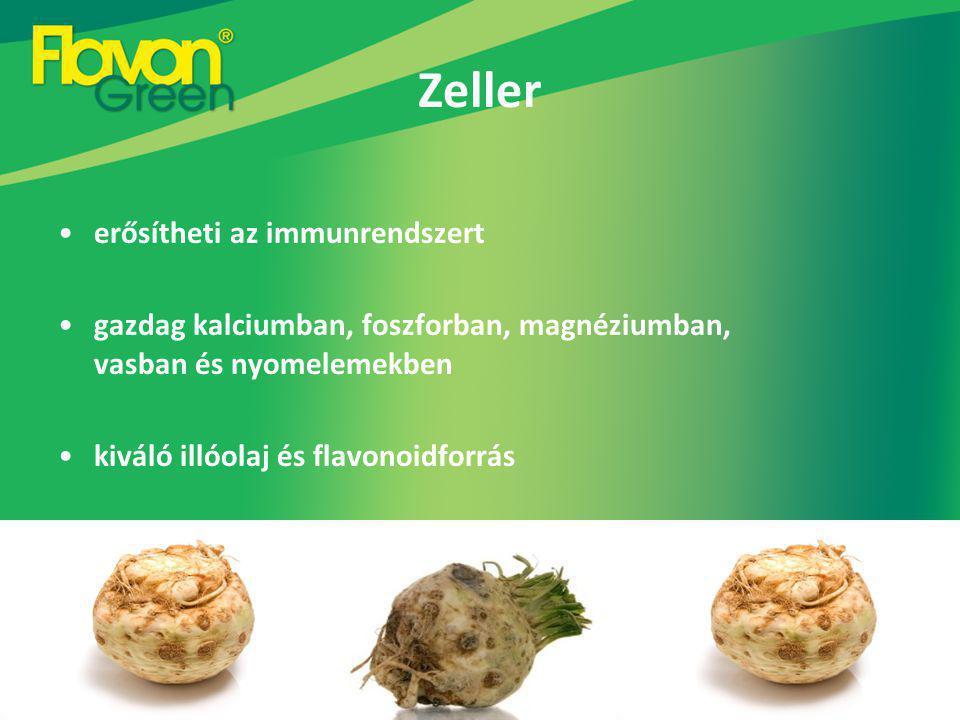 Zeller erősítheti az immunrendszert gazdag kalciumban, foszforban, magnéziumban, vasban és nyomelemekben kiváló illóolaj és flavonoidforrás