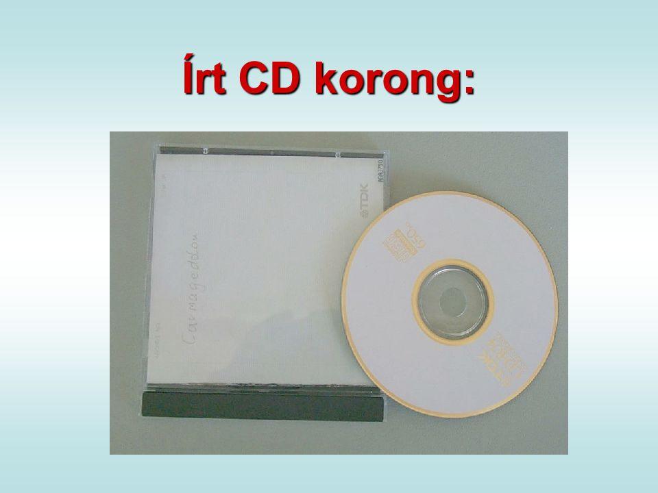 Írt CD korong: