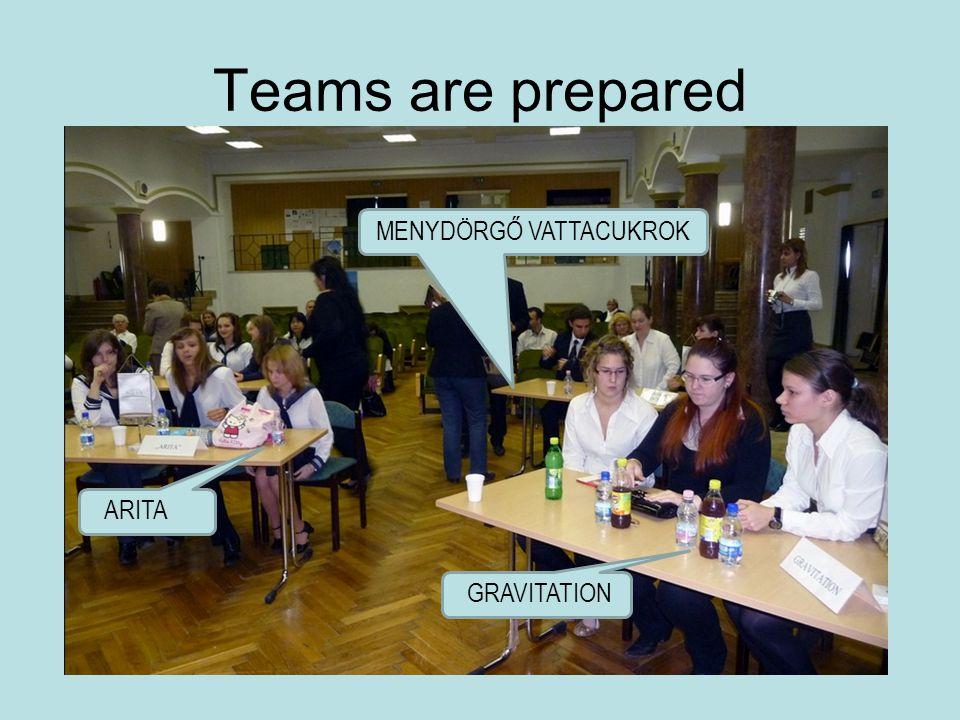 Teams are prepared ARITA GRAVITATION MENYDÖRGŐ VATTACUKROK