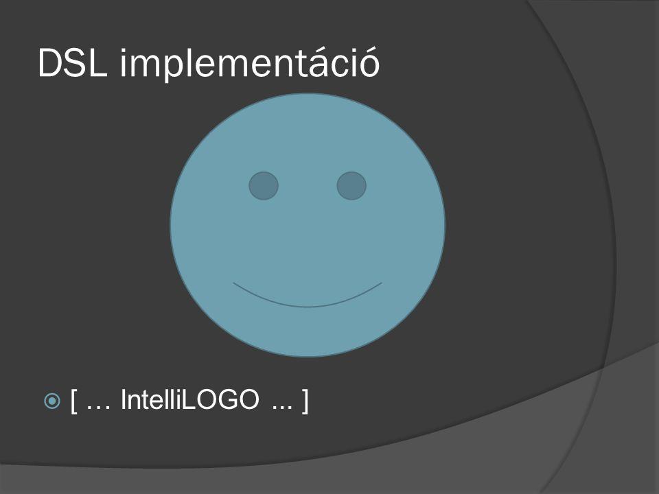 DSL implementáció  [ … IntelliLOGO... ]