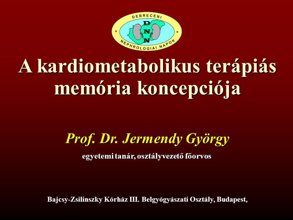 A kardiometabolikus terápiás memória koncepciója Prof. Dr. Jermendy György egyetemi tanár, osztályvezető főorvos Bajcsy-Zsilinszky Kórház III. Belgyóg
