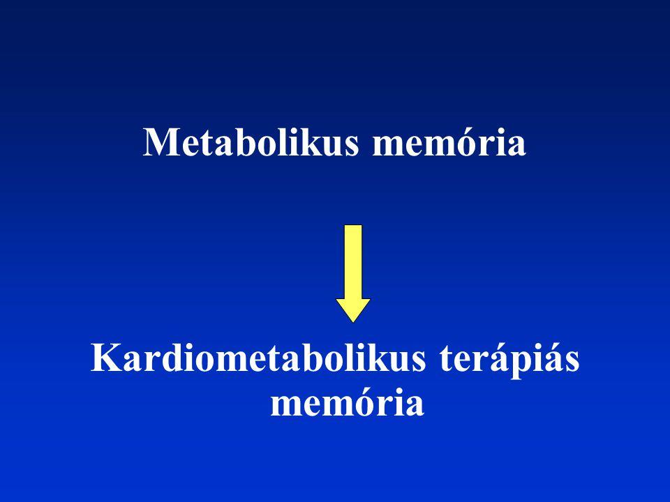 Metabolikus memória Kardiometabolikus terápiás memória
