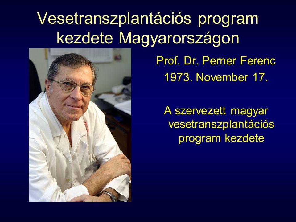 Vesetranszplantációs program kezdete Magyarországon Prof.