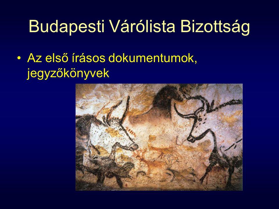 Budapesti Várólista Bizottság Az első írásos dokumentumok, jegyzőkönyvek
