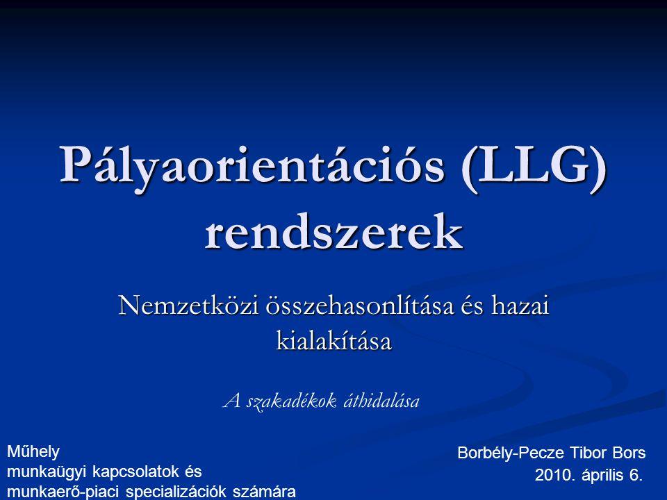 Pályaorientációs (LLG) rendszerek Nemzetközi összehasonlítása és hazai kialakítása Borbély-Pecze Tibor Bors 2010.