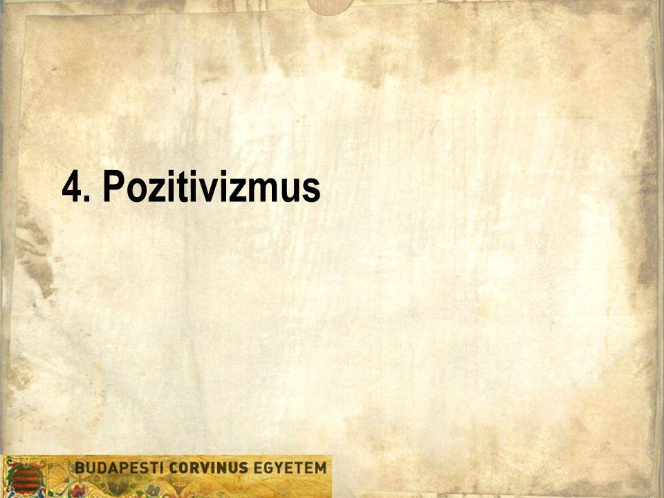 """Filozófia Tanszék """"Az igazi pozitivizmus  Valójában ekkor jutunk el azokhoz a jelenségekhez, melyekre minden további tudásunkat építhetjük."""